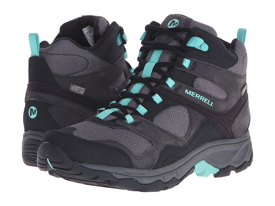 Merrell - Kimsey Mid Waterproof (Black/Green) Women's Shoes