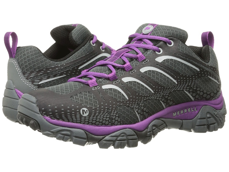 Merrell - Moab Edge (Black/Purple) Women's Shoes