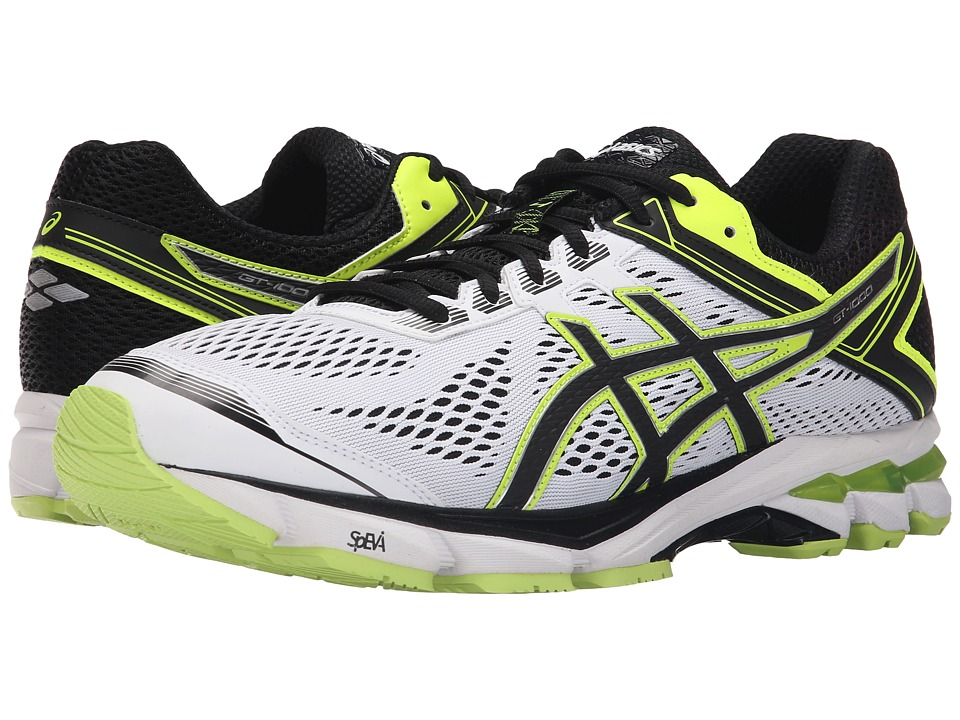 ASICS - GT-1000 4 (White/Onyx/Flash Yellow) Men's Running Shoes