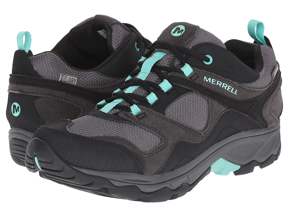 Merrell - Kimsey Waterproof (Black/Green) Women's Shoes