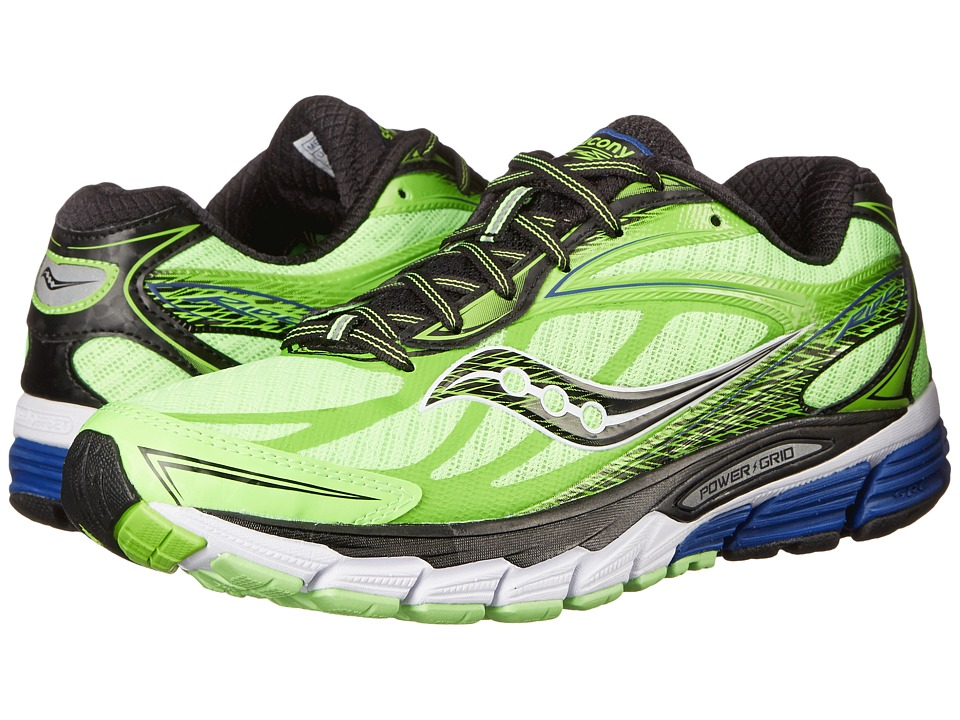 Saucony - Ride 8 (Slime/Black/White) Men's Running Shoes