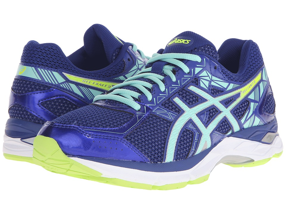 ASICS - Gel-Exalt 3 (ASICS Blue/Mint/Flash Yellow) Women's Running Shoes