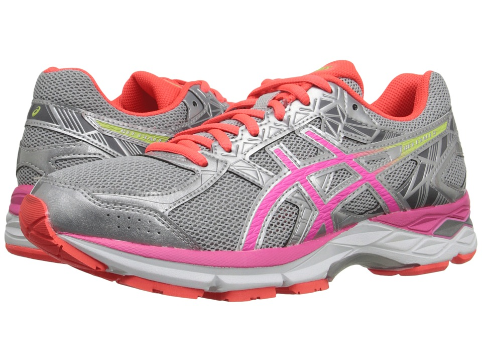 ASICS - Gel-Exalt 3 (Silver/Pink Glow/Flash Coral) Women's Running Shoes