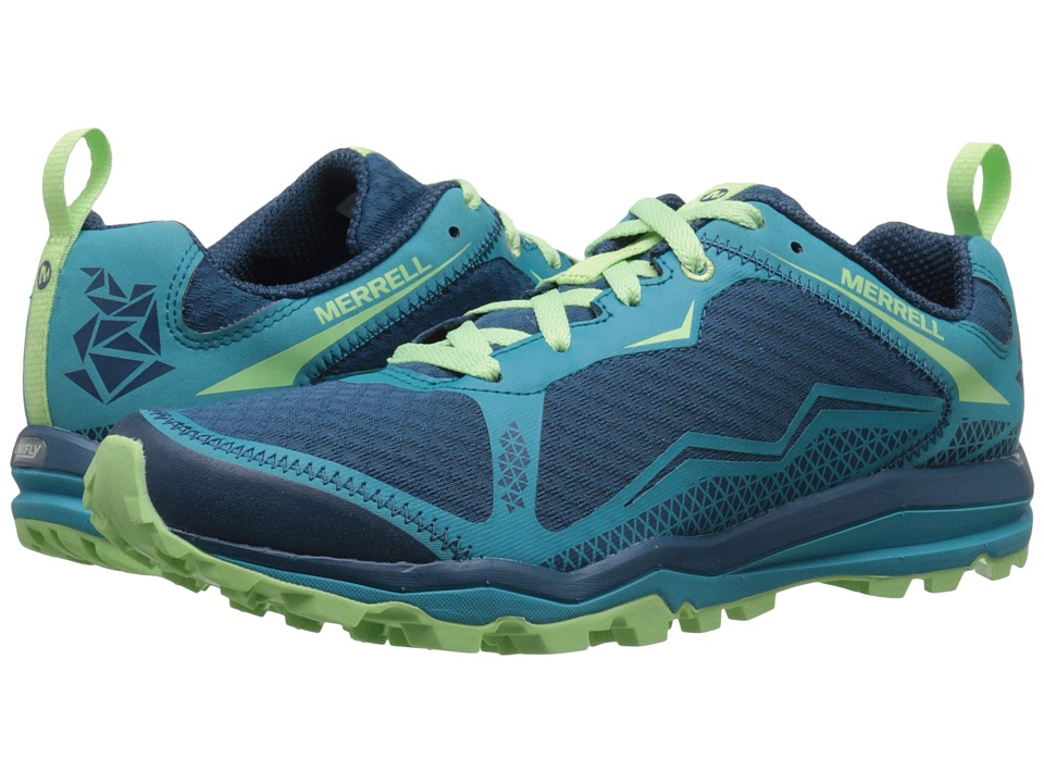 Merrell - All Out Crush Light (Bright Green) Women's Shoes