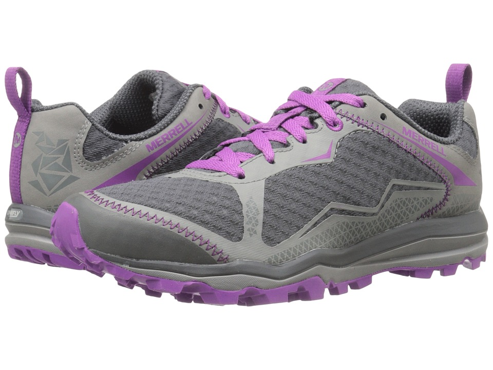 Merrell - All Out Crush Light (Grey/Purple) Women's Shoes
