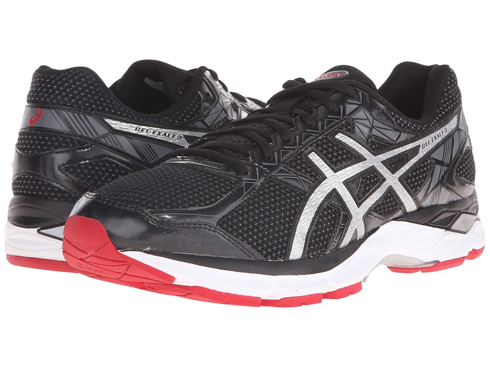 ASICS - Gel-Exalt 3 (Black/Silver/Racing Red) Men's Running Shoes