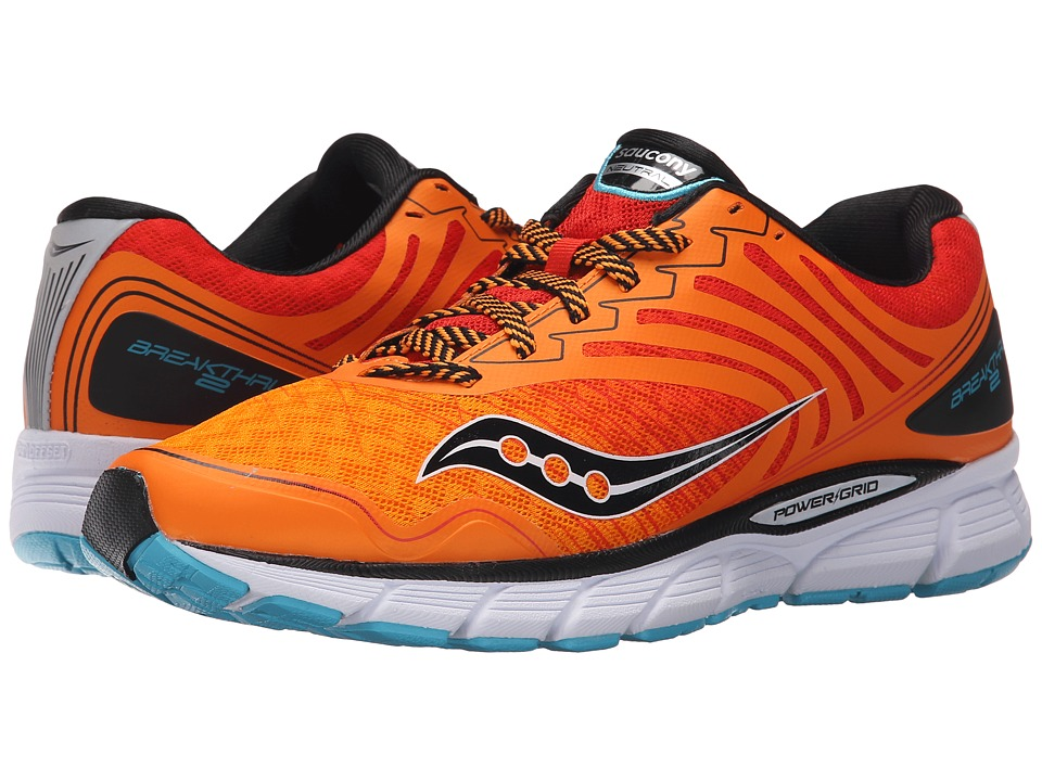 Saucony - Breakthru 2 (Orange/Red/Blue) Men's Shoes