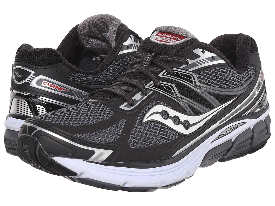Saucony - Omni 14 (Black/Grey) Men's Running Shoes