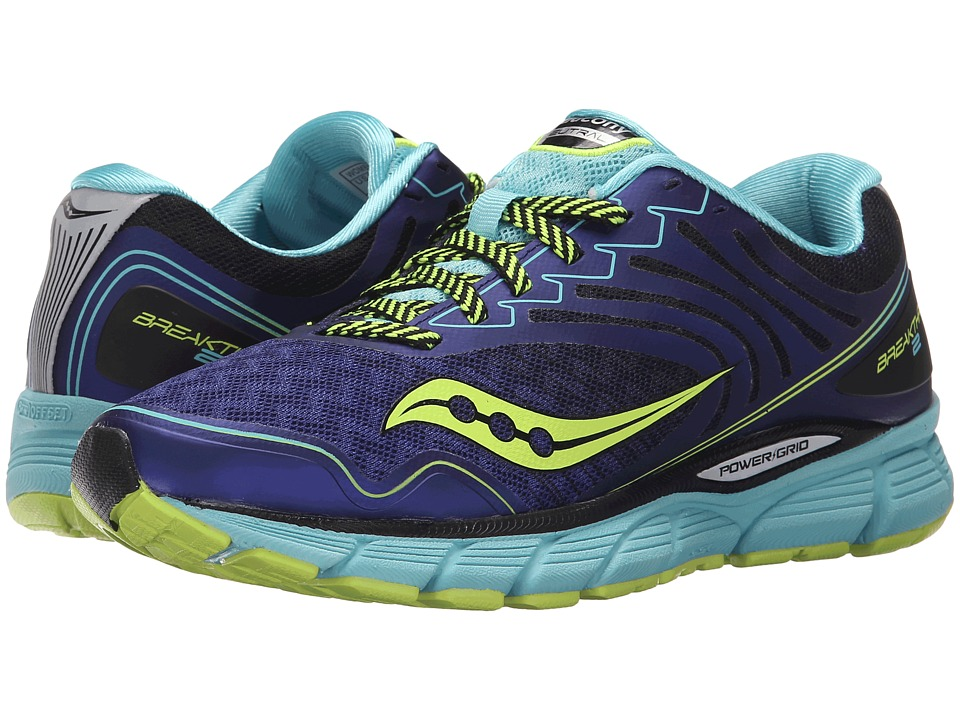 Saucony - Breakthru 2 (Twilight/Oxygen/Citron) Women's Shoes