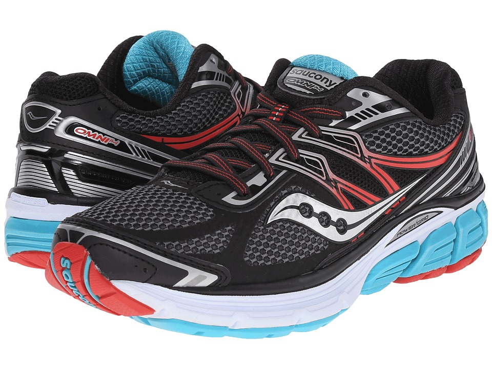Saucony - Omni 14 (Black/Teal/Red) Women's Running Shoes