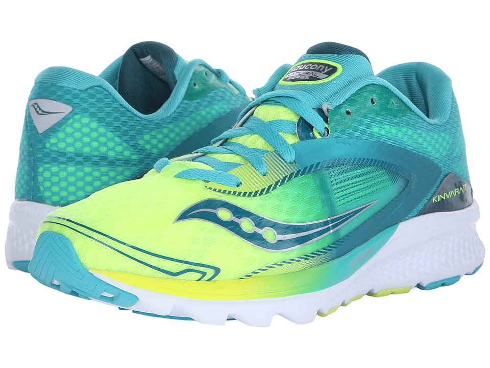 Saucony - Kinvara 7 (Teal/Citron) Women's Shoes