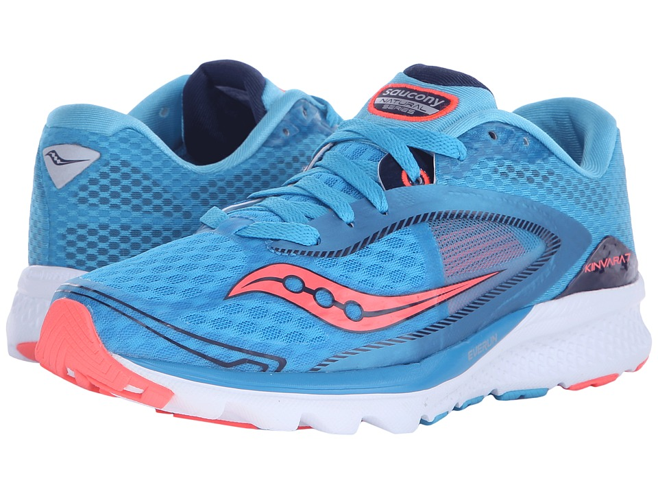 Saucony - Kinvara 7 (Blue/Navy/Coral) Women's Shoes