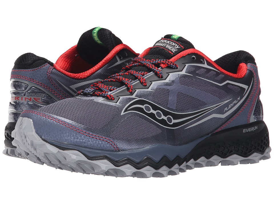 Saucony - Peregrine 6 (Grey/Red/Black) Men's Shoes