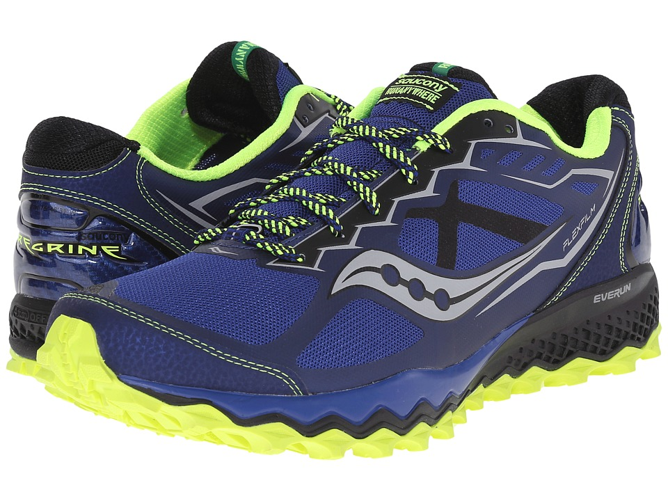 Saucony - Peregrine 6 (Blue/Citron/Black) Men's Shoes
