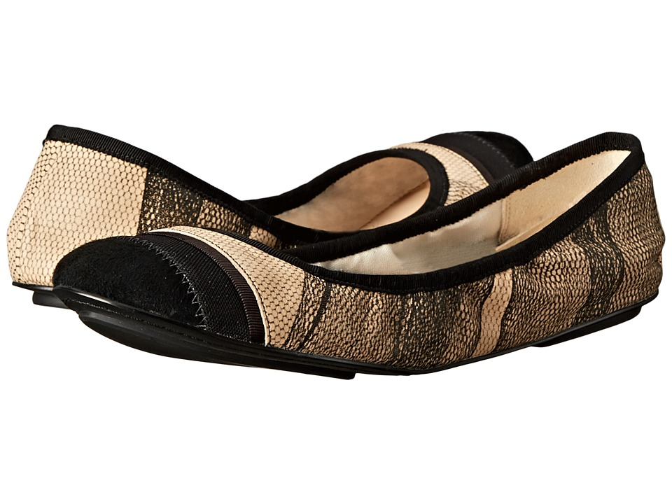 Cole Haan - Avery Printed Tutu Ballet (Nude/Black) Women's Slip on Shoes