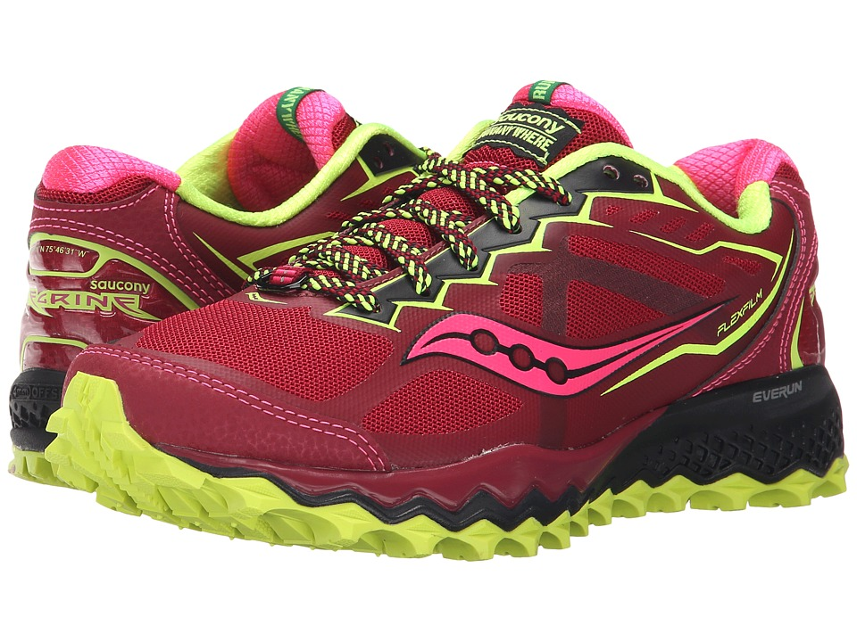 Saucony - Peregrine 6 (Red/Citron/Pink) Women's Shoes