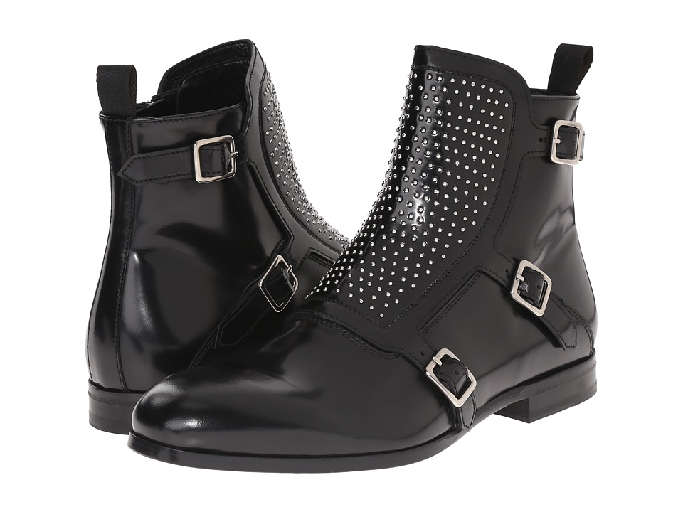 Alexander McQueen - Studded Buckle Monk Boot (Black) Men's Boots