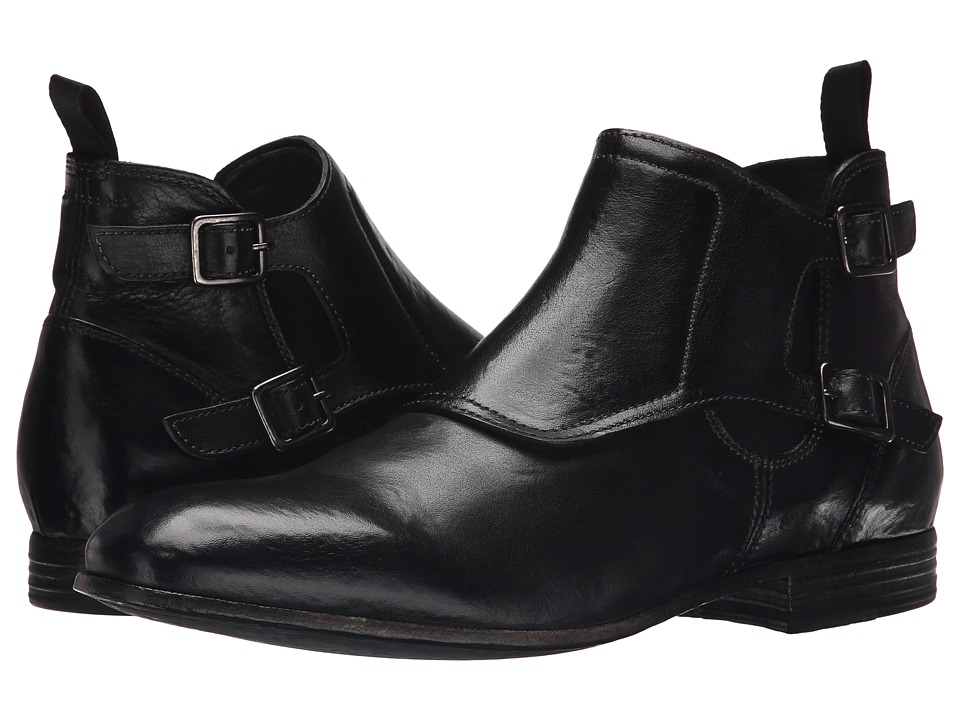 Alexander McQueen - Double Buckle Boot (Black) Men's Zip Boots