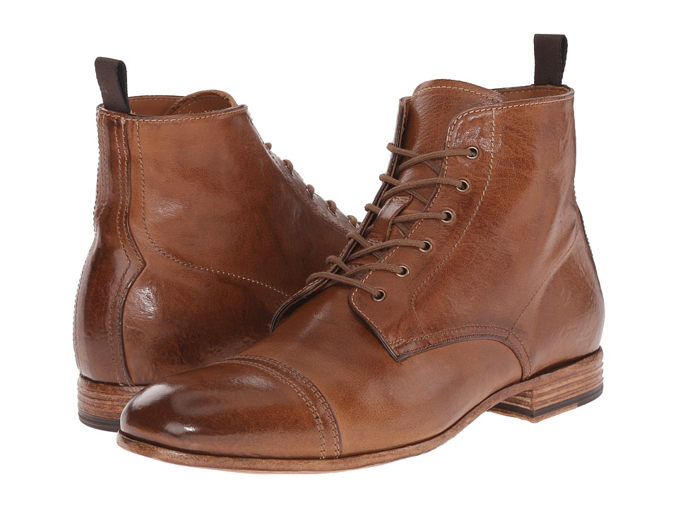 Alexander McQueen - Washed Lace Up Boot (Brown) Men