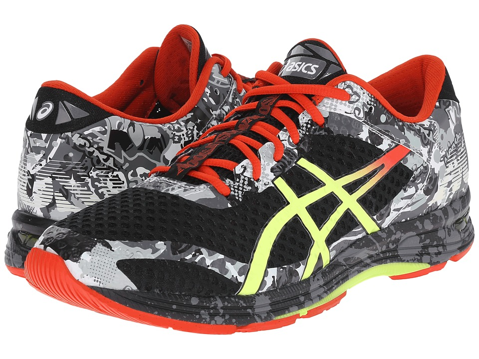 ASICS - Gel-Noosa Tri 11 (Black/Flash Yellow/Orange) Men's Running Shoes