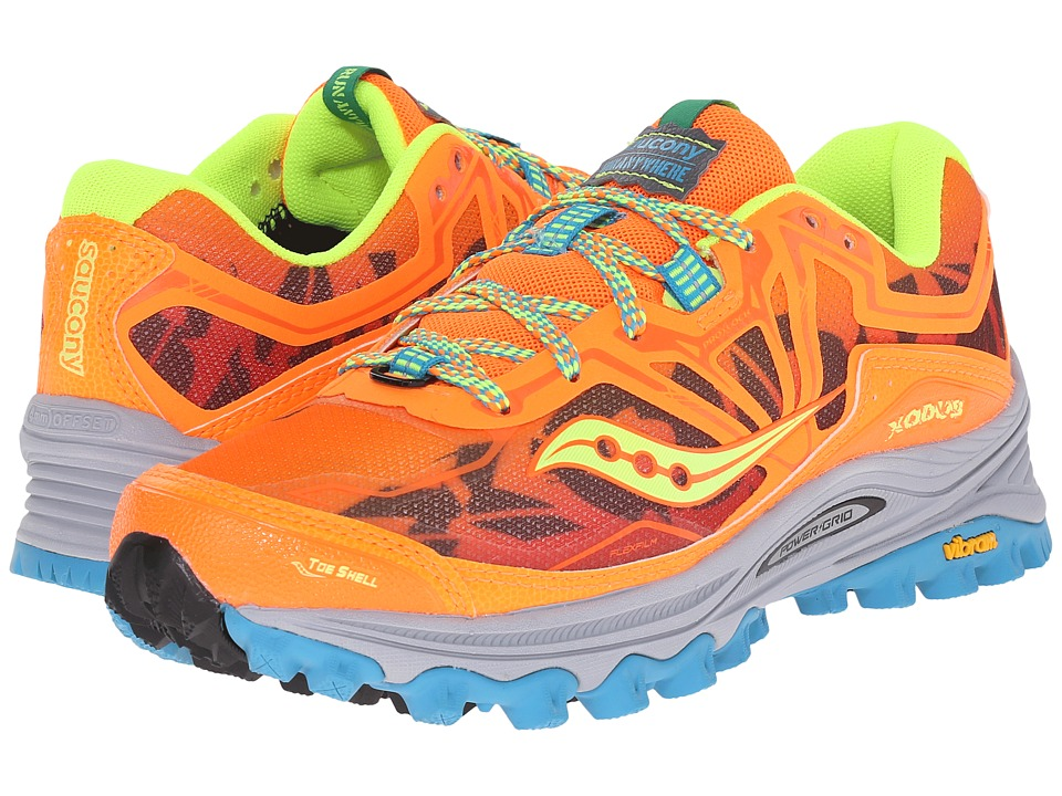 Saucony - Xodus 6.0 (Orange/Blue/Citron) Women's Running Shoes