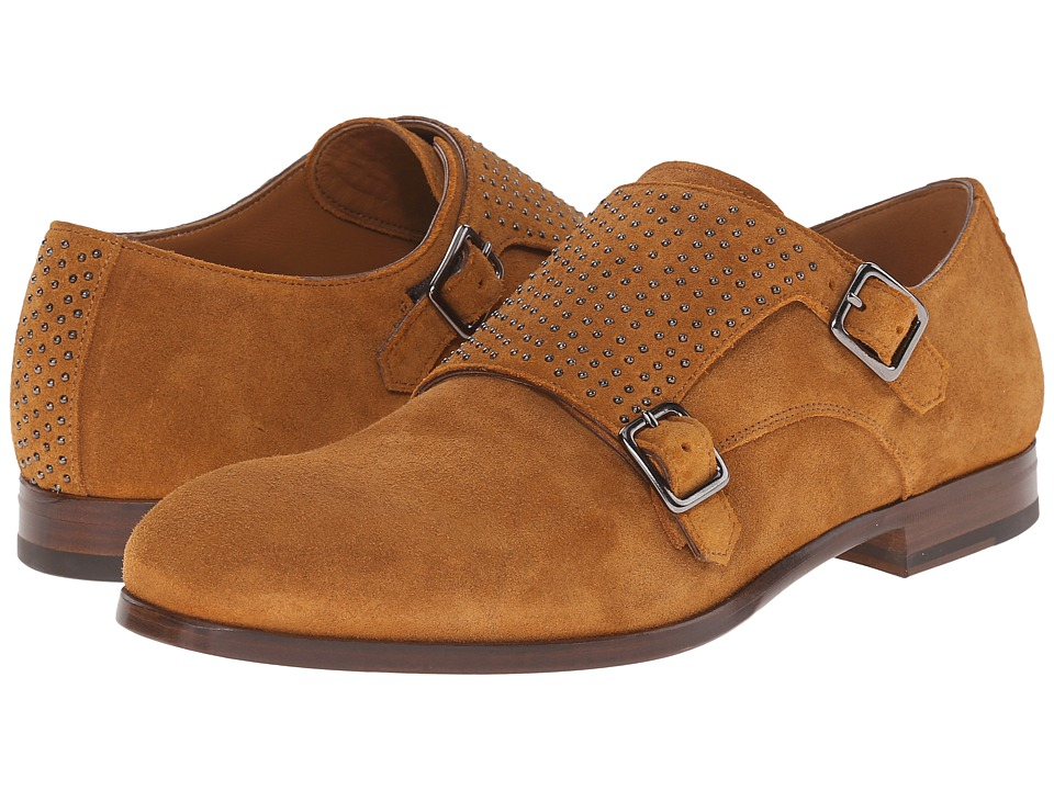 Alexander McQueen Lilliput Suede Double Buckle Monk (Tobacco) Men