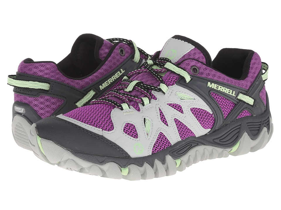 Merrell - All Out Blaze Aero Sport (Grey/Purple) Women's Shoes