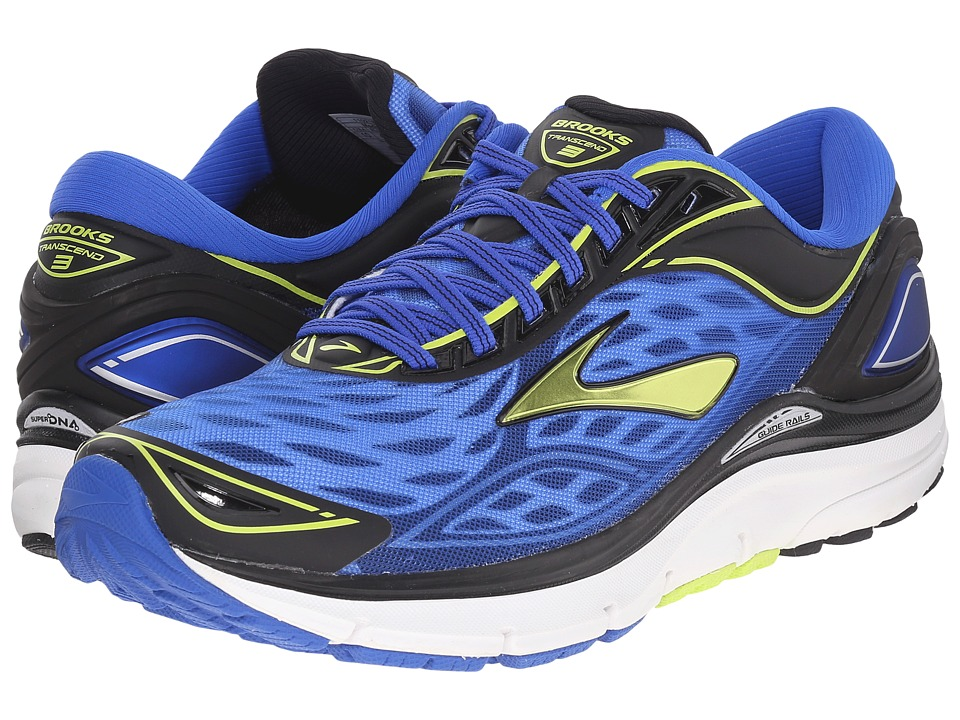 Brooks - Transcend 3 (Electric Brooks Blue/Lime Punch/Black) Men's Running Shoes