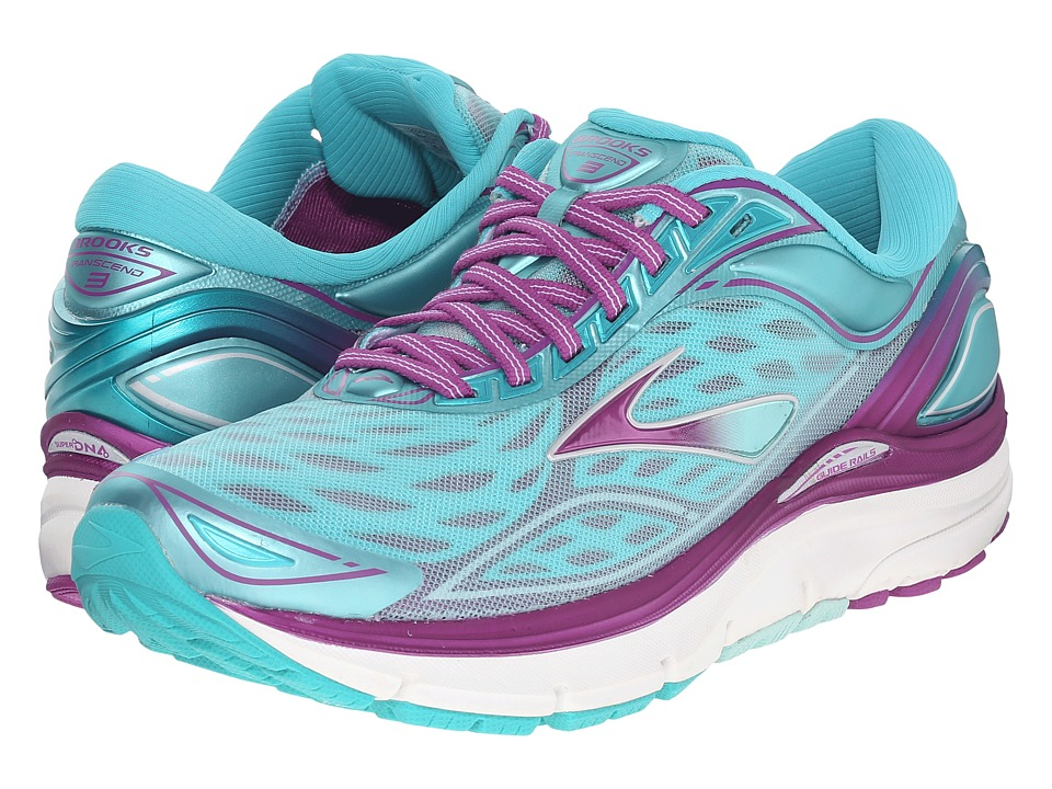Brooks - Transcend 3 (Aruba Blue/Byzantium/Silver) Women's Running Shoes