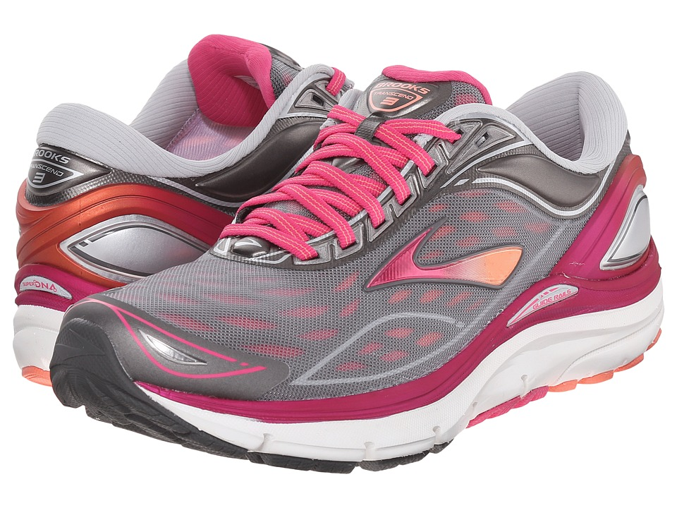 Brooks - Transcend 3 (Silver/Beet Root Purple/Fresh Salmon) Women's Running Shoes
