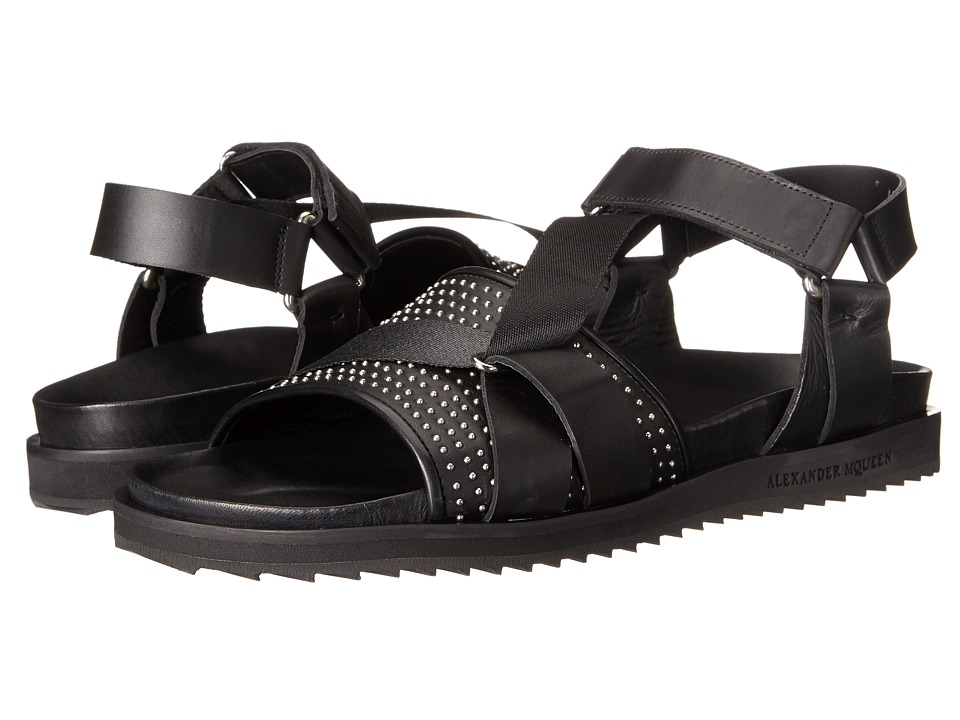 Alexander McQueen - Studded Strap Sandal (Black) Men's Sandals