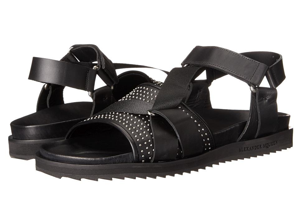 Alexander McQueen Studded Strap Sandal (Black) Men