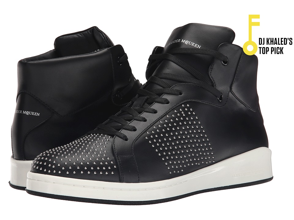 Alexander McQueen - Lilliput High Top Sneaker (Black) Men's Shoes