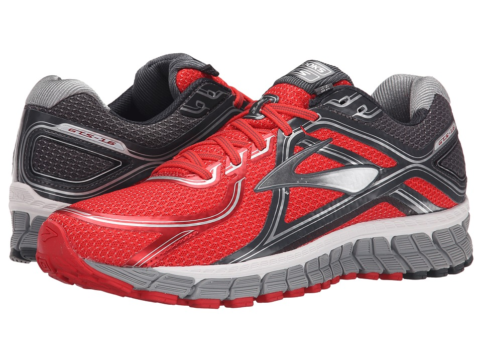 Brooks - Adrenaline GTS 16 (High Risk Red/Anthracite/Silver) Men's Running Shoes