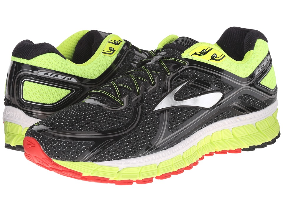Brooks Adrenaline GTS 16 (Black/Nightlife/High Risk Red) Men