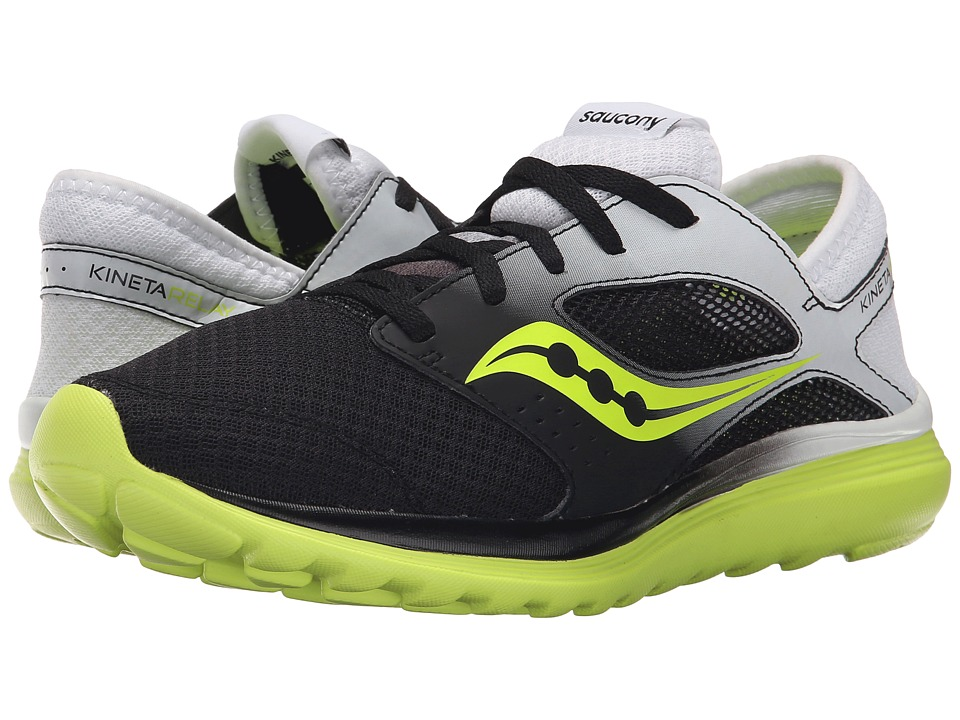Saucony - Kineta Relay (White/Black/Citron) Men's Running Shoes