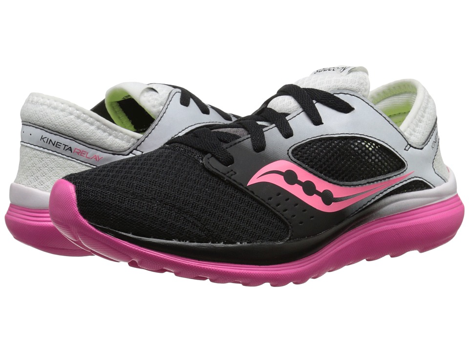 Saucony - Kineta Relay (White/Black/Pink) Women's Running Shoes