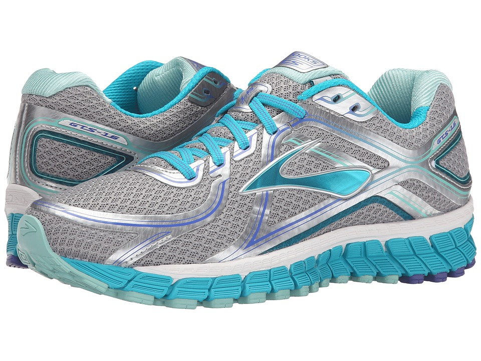 Brooks Adrenaline GTS 16 (Silver/Bluebird/Blue Tint) Women