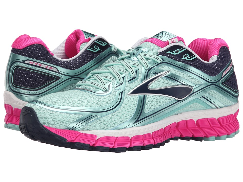 Brooks - Adrenaline GTS 16 (Blue Tint/Pink Glo/Peacoat) Women's Running Shoes