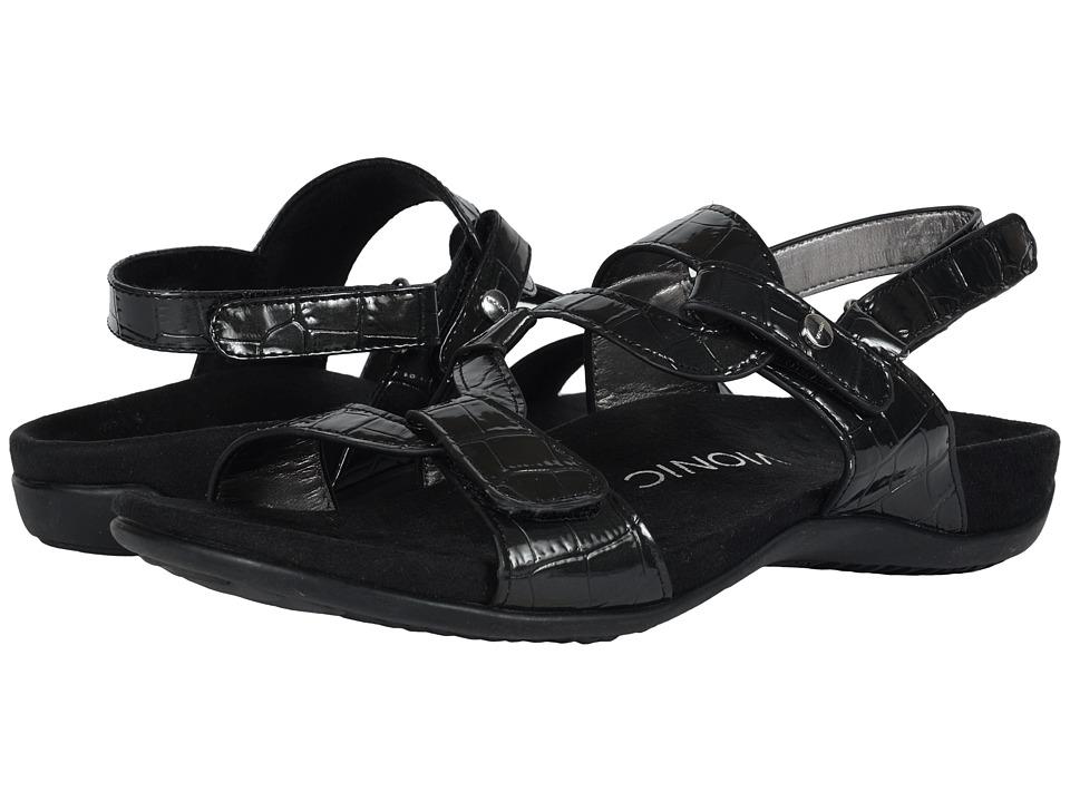 VIONIC - Paros (Black Patent) Women's Sandals