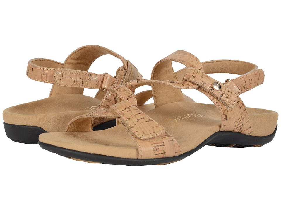 VIONIC - Paros (Gold Cork) Women's Sandals