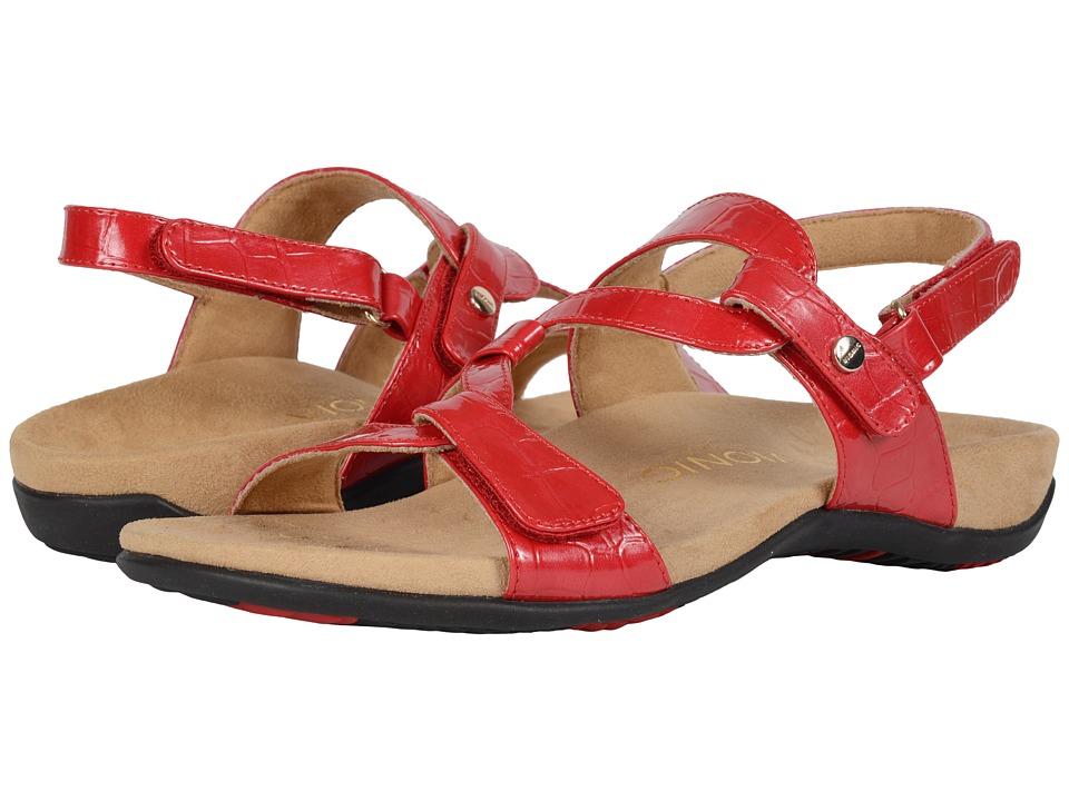 VIONIC - Paros (Red Croco) Women's Sandals