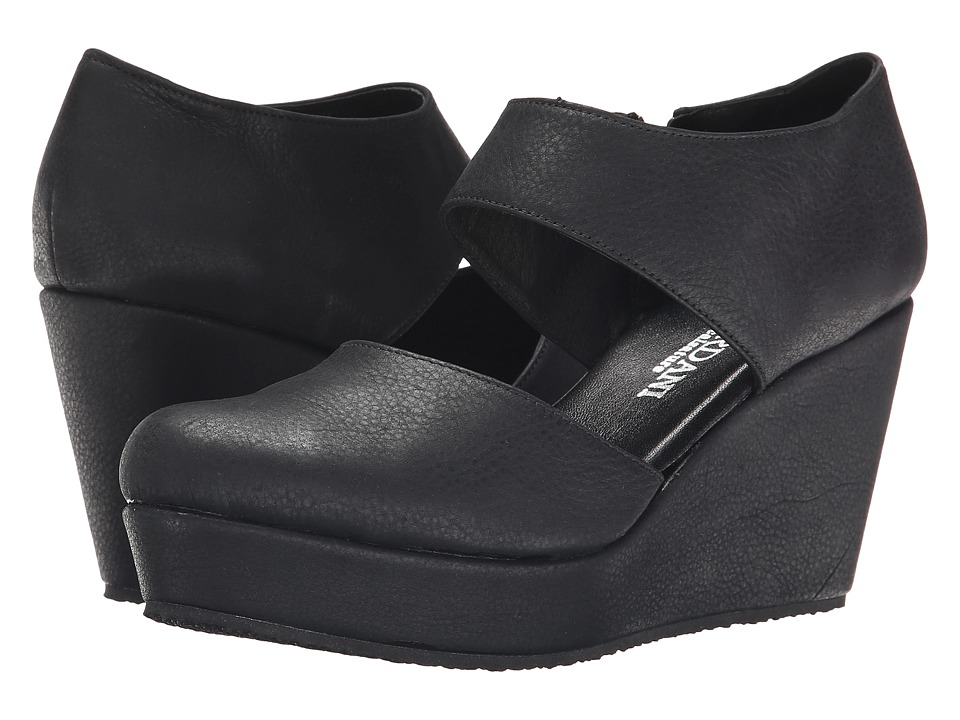Cordani - Fame (Black Vintage Leather) Women's Wedge Shoes