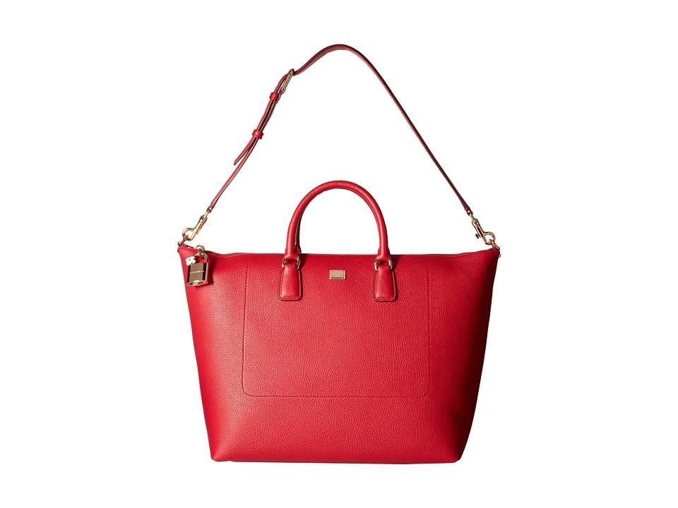 Dolce & Gabbana - Shopping Vit. Bottalato (Rubino) Tote Handbags