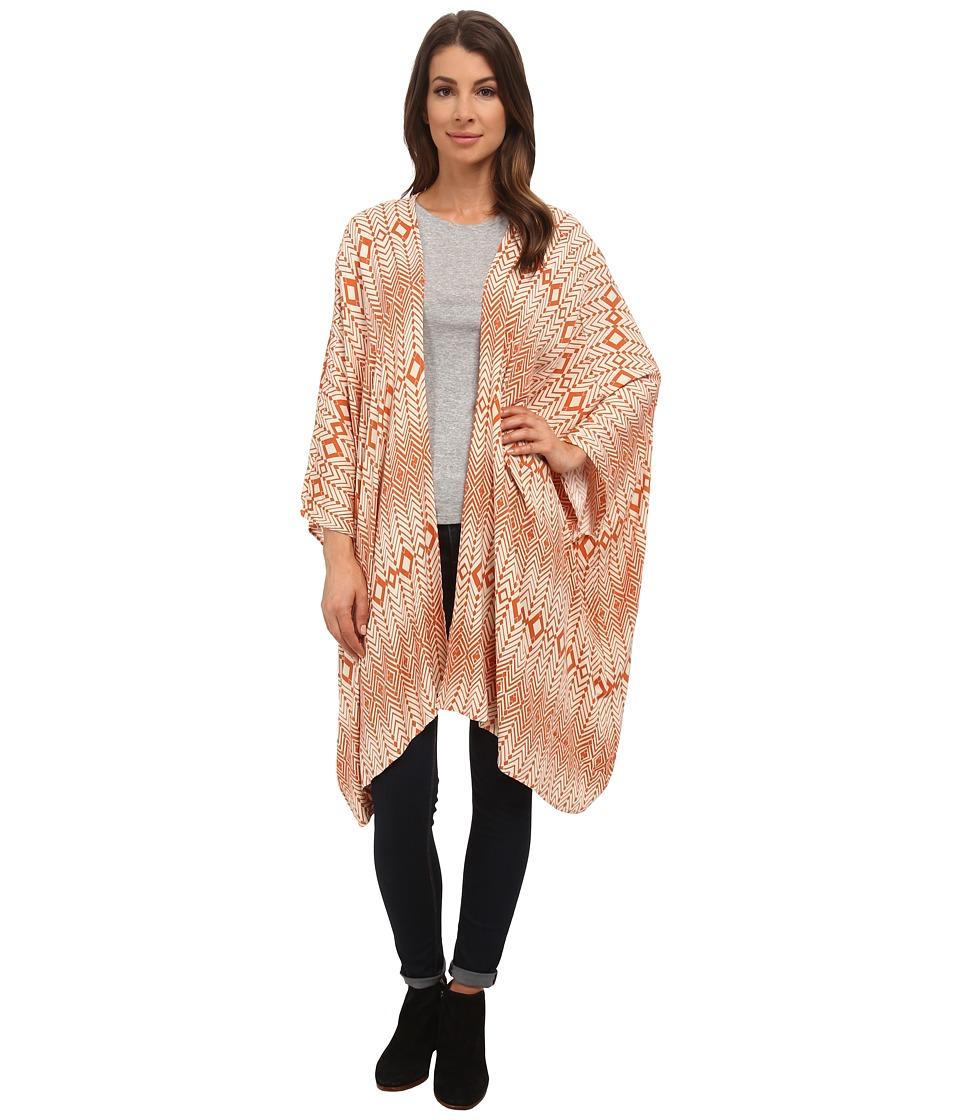 Chaser - Scarf Print Kimono (Scarf) Women's Clothing