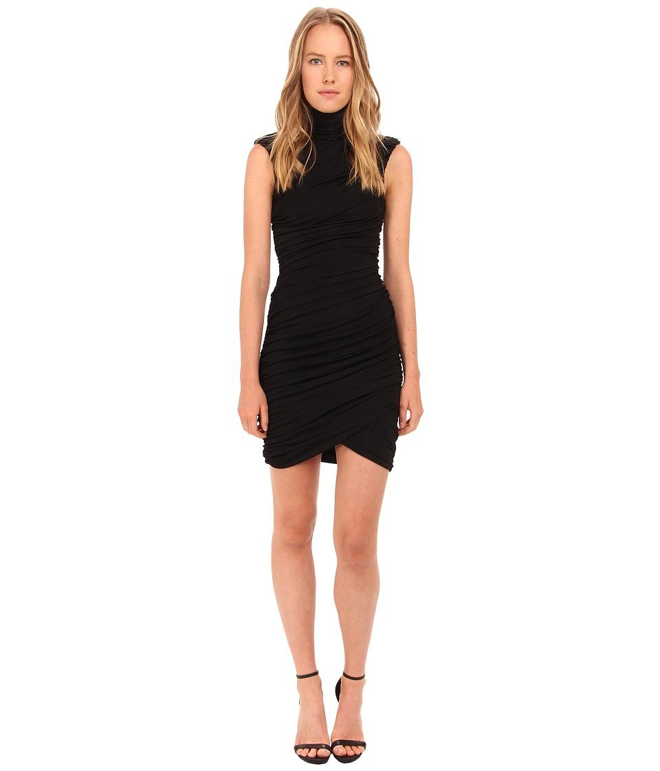 Pierre Balmain - Ribbed Sleeveless Dress FP33160 (Black) Women's Dress