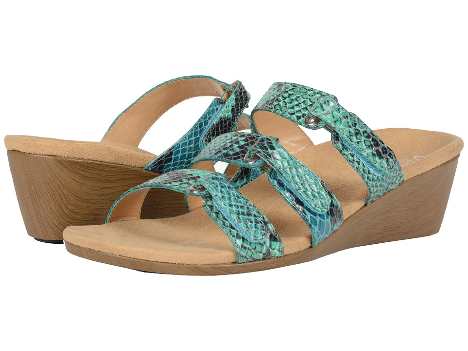 VIONIC - Dwyn (Teal Snake) Women's Wedge Shoes