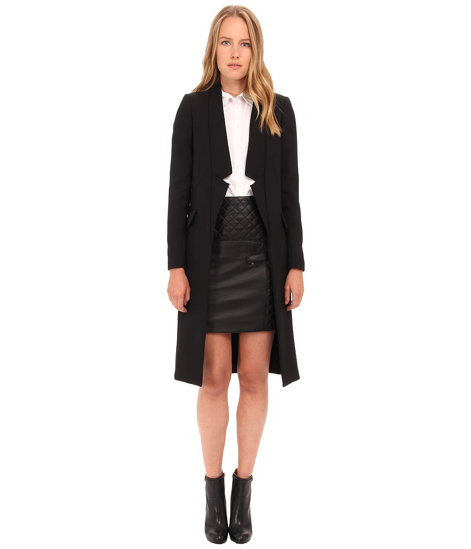 Pierre Balmain - Drape Blazer Coat FP23120 (Black) Women