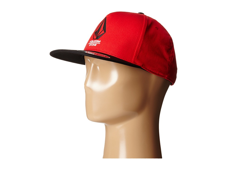 Volcom - Bevel (Drip Red) Baseball Caps