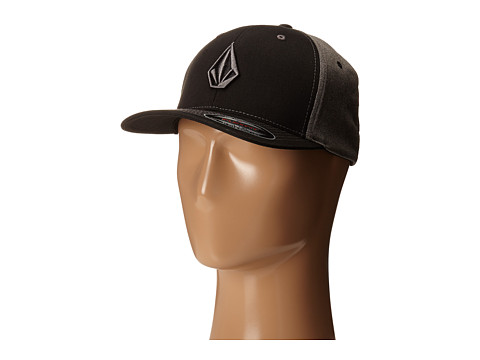 Volcom - Full Stone Frabric XFit Flexfit Hat (Bullet Grey) Caps